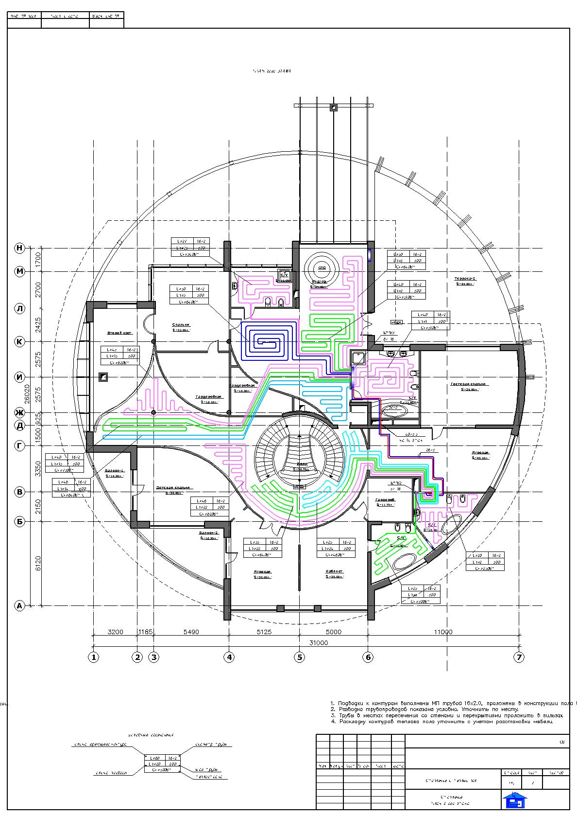Геодезическая схема dwg