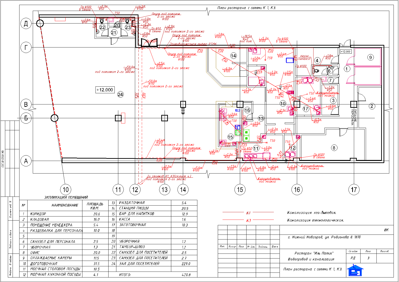 Схема и технические условия на водопровод